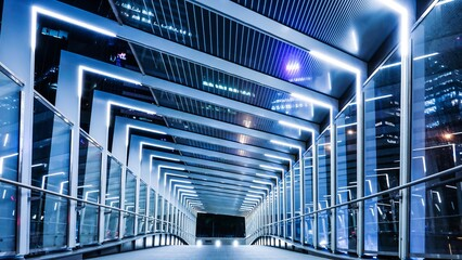 Fotomurales - Modern Bridge At Night