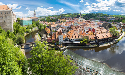 Cesky Krumlov town in the Czech Republic