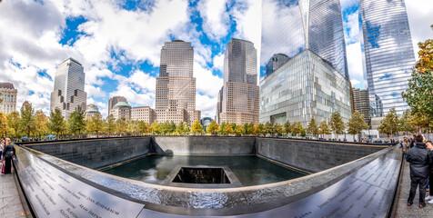 Fish-eye View Of National September 11 Memorial & Museum In Manhattan