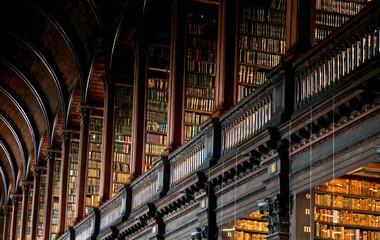 Fototapeta Low Angle View Of Abandoned Library obraz