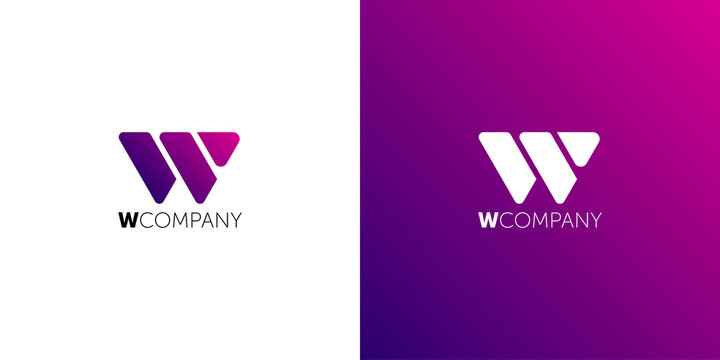 Letter W Abstract Logo Symbol. logo w
