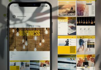 Social Media Business Plan Post Layouts