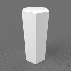 Closed hexagonal paper box 2