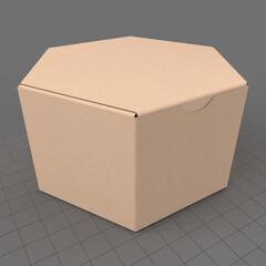 Closed hexagonal paper box 1