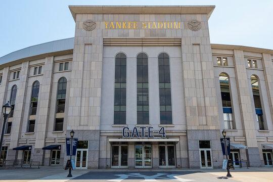 New York City, USA - June 10, 2017: Outside view of Yankee Stadium in Bronx