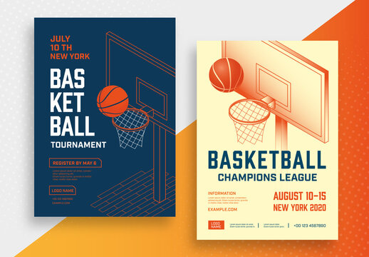 Basketball Tournament Poster Layout