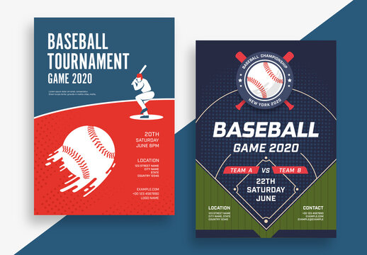 Baseball Tournament Poster Layouts