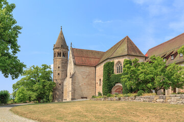 Obraz Exterior Of Historic Building Against Sky Of The Kloster Lorch Monastery - fototapety do salonu