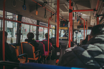 People Traveling In Bus