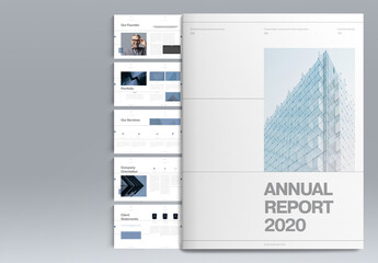 Blue Annual Report Layout