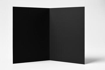 Blank Black Open Standing Card