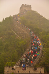 Photo sur Plexiglas Muraille de Chine People On The Great Wall Of China