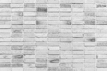 Vintage old white brick wall texture and seamless background