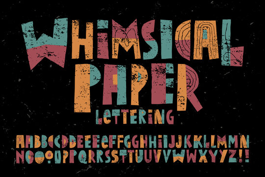 A Happy, Playful and Whimsical Alphabet with a Childlike Quality