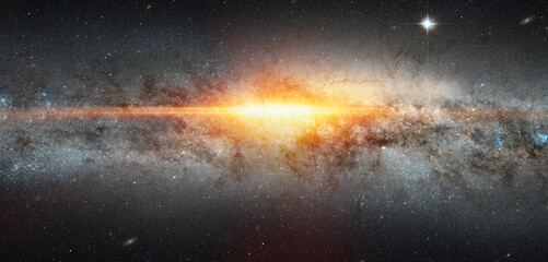 Wall Mural - Supernova explosion in the center of the milky way