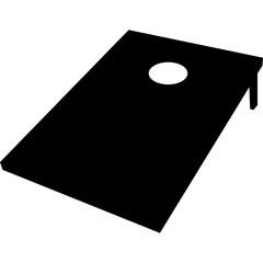 Cornhole Toss Silhouette Vector