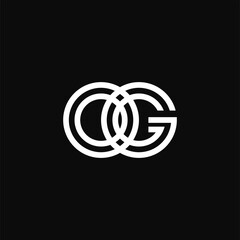 creative letter o and g logo template. branding initial.