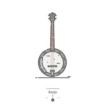 Banjo - Line color icon