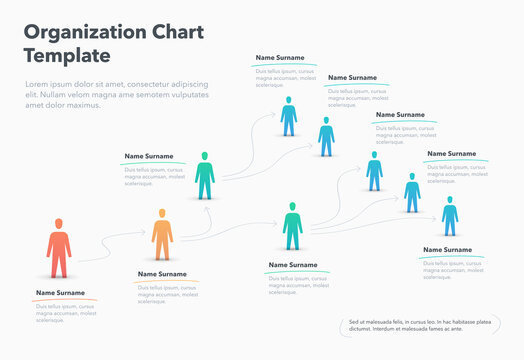 Company organization chart template with place for your content. Easy to use for your website or presentation.
