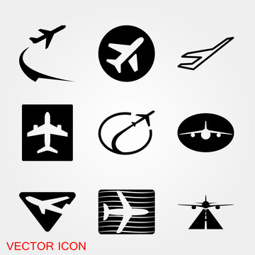 Airport icon design, vector illustration eps graphic