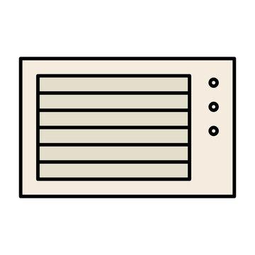 Wall Fixed Air conditioner concept, window ac vector icon design