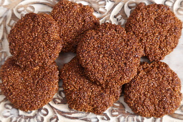 Amaranth cookies.