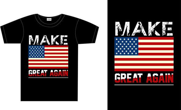 make America great again typography t-shirt