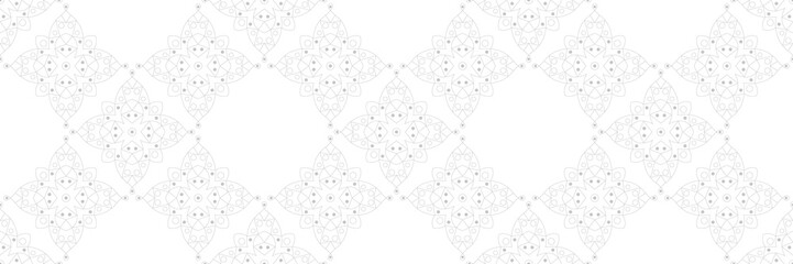 Keuken foto achterwand Kunstmatig Gray and white seamless pattern. Geometric print in oriental indian style