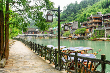 Awesome view of Phoenix Ancient Town and the Tuojiang River
