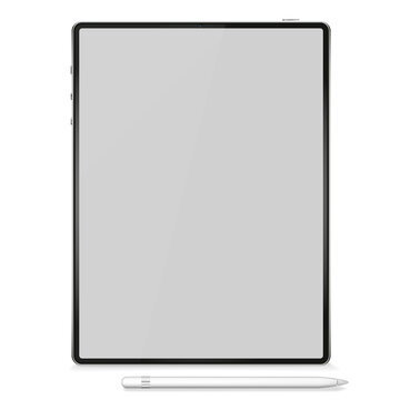 Realistic Tablet PC Computer Isolated on Background. Can Use for Template, Project, Presentation or Banner. Electronic Gadgets, Device Set Mock Up. Vector Illustration.