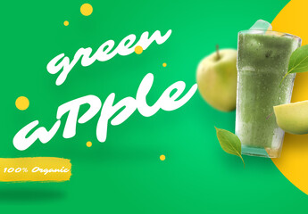 Green Apple Juice Mockup