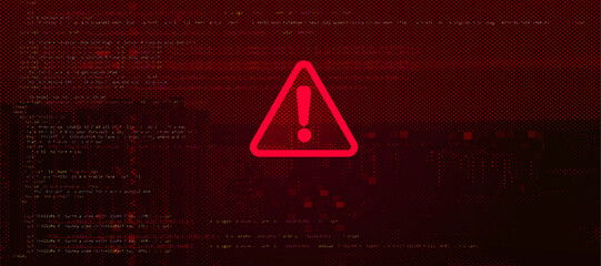 Fototapeta Abstract Vector Red Background. Malware, or Hack Attack Concept