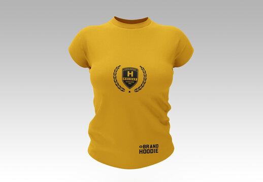 Women'S Slim-Fit T-Shirt Mockup