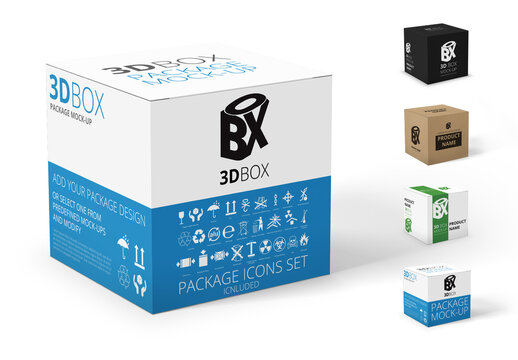 Cube Product Package Mockup