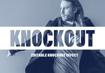 Knock Out Text Effect