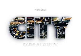 Cutout 3D Text Effect