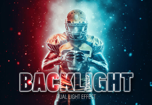 Two Color Dual Lighting Photo Effect