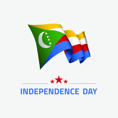 Canvas Prints Geometric animals Waving flag of Comoros for independence day greeting card, banner and social media isolated on white background vector illustration EPS 10