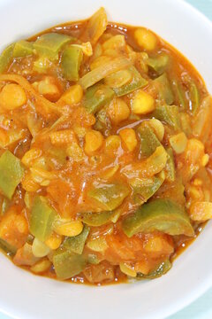 Turai Chanda dal Subji or Sponge gourd curry in South Indian style