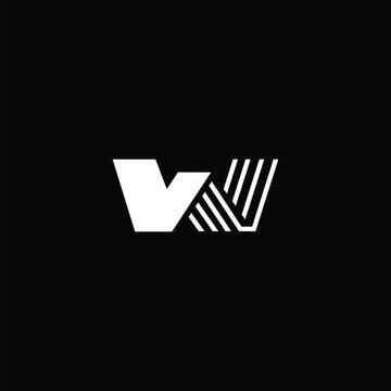 Minimal elegant monogram art logo. Outstanding professional trendy awesome artistic W WW initial based Alphabet icon logo. Premium Business logo white color on black background
