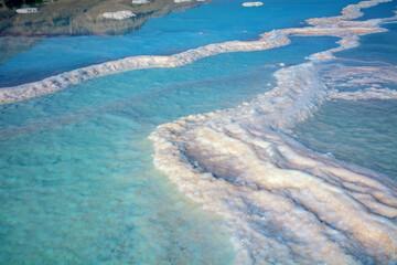 Fototapete - The texture of the Dead Sea. Seascape. Salty seashore. Nature background. Israel