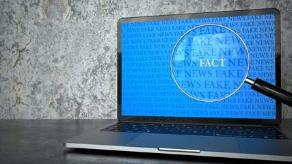 Fake News Loupe Facts Notebook