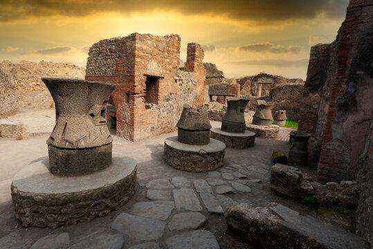 Pompei, roman ruins near Naples, Italy