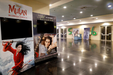 Closed cinemas amid the coronavirus disease (COVID-19) outbreak in Manila