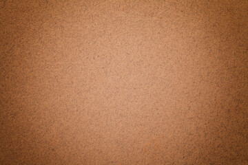 Fototapeten Retro Texture of vintage dark brown paper background with matte vignette. Structure of dense bronze kraft cardboard.