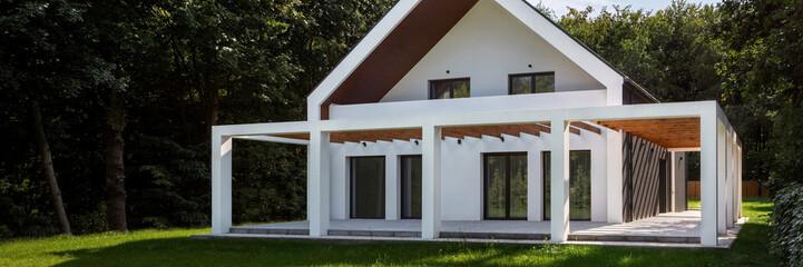 Beautiful veranda in house, panorama