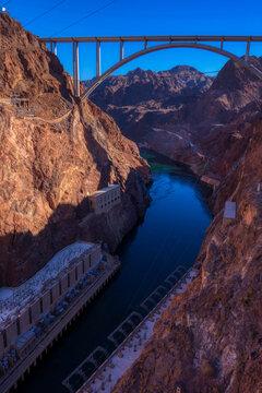 Memorial Bridge over the Colorado River at Hoover Dam, Nevada, USA