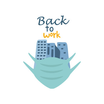back to work, lettering about back to work