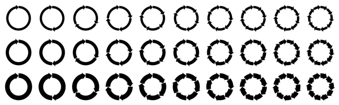 Infonographic elements. Arrow jump in a circle. Objects for websites and other internet resources. Isolated vector objects.