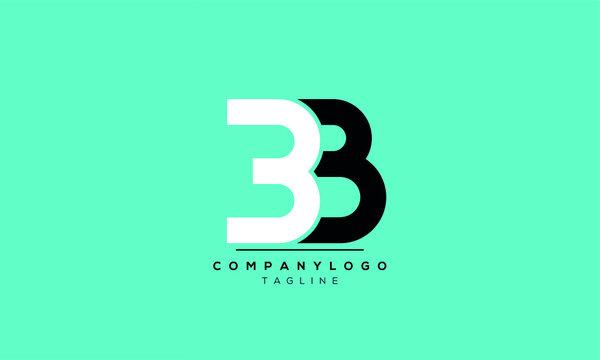 Alphabet letters Initials Monogram logo 3B,B3,B and 3
